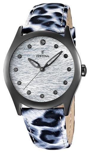 Festina F16649.1 - женские наручные часы из коллекции LadyFestina<br><br><br>Бренд: Festina<br>Модель: Festina F16649/1<br>Артикул: F16649.1<br>Вариант артикула: None<br>Коллекция: Lady<br>Подколлекция: None<br>Страна: Испания<br>Пол: женские<br>Тип механизма: кварцевые<br>Механизм: Miyota<br>Количество камней: None<br>Автоподзавод: None<br>Источник энергии: от батарейки<br>Срок службы элемента питания: None<br>Дисплей: стрелки<br>Цифры: отсутствуют<br>Водозащита: WR 50<br>Противоударные: None<br>Материал корпуса: нерж. сталь, PVD покрытие (полное)<br>Материал браслета: кожа<br>Материал безеля: None<br>Стекло: минеральное<br>Антибликовое покрытие: None<br>Цвет корпуса: None<br>Цвет браслета: None<br>Цвет циферблата: None<br>Цвет безеля: None<br>Размеры: 36 мм<br>Диаметр: None<br>Диаметр корпуса: None<br>Толщина: None<br>Ширина ремешка: None<br>Вес: None<br>Спорт-функции: None<br>Подсветка: None<br>Вставка: None<br>Отображение даты: None<br>Хронограф: None<br>Таймер: None<br>Термометр: None<br>Хронометр: None<br>GPS: None<br>Радиосинхронизация: None<br>Барометр: None<br>Скелетон: None<br>Дополнительная информация: элемент питания SR626SW, срок службы батарейки 3 года<br>Дополнительные функции: None