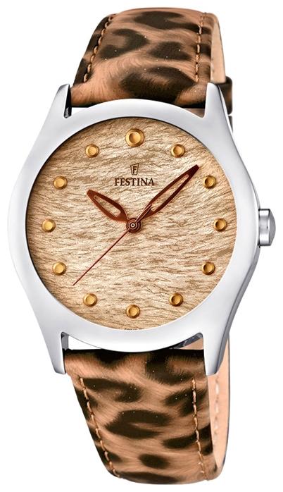 Festina F16648.4 - женские наручные часы из коллекции LadyFestina<br><br><br>Бренд: Festina<br>Модель: Festina F16648/4<br>Артикул: F16648.4<br>Вариант артикула: None<br>Коллекция: Lady<br>Подколлекция: None<br>Страна: Испания<br>Пол: женские<br>Тип механизма: кварцевые<br>Механизм: Miyota<br>Количество камней: None<br>Автоподзавод: None<br>Источник энергии: от батарейки<br>Срок службы элемента питания: None<br>Дисплей: стрелки<br>Цифры: отсутствуют<br>Водозащита: WR 50<br>Противоударные: None<br>Материал корпуса: нерж. сталь<br>Материал браслета: кожа<br>Материал безеля: None<br>Стекло: минеральное<br>Антибликовое покрытие: None<br>Цвет корпуса: None<br>Цвет браслета: None<br>Цвет циферблата: None<br>Цвет безеля: None<br>Размеры: 36 мм<br>Диаметр: None<br>Диаметр корпуса: None<br>Толщина: None<br>Ширина ремешка: None<br>Вес: None<br>Спорт-функции: None<br>Подсветка: None<br>Вставка: None<br>Отображение даты: None<br>Хронограф: None<br>Таймер: None<br>Термометр: None<br>Хронометр: None<br>GPS: None<br>Радиосинхронизация: None<br>Барометр: None<br>Скелетон: None<br>Дополнительная информация: элемент питания SR626SW, срок службы батарейки 3 года<br>Дополнительные функции: None