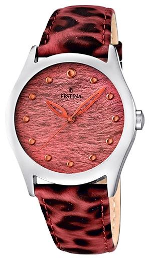 Festina F16648.3 - женские наручные часы из коллекции LadyFestina<br><br><br>Бренд: Festina<br>Модель: Festina F16648/3<br>Артикул: F16648.3<br>Вариант артикула: None<br>Коллекция: Lady<br>Подколлекция: None<br>Страна: Испания<br>Пол: женские<br>Тип механизма: кварцевые<br>Механизм: Miyota<br>Количество камней: None<br>Автоподзавод: None<br>Источник энергии: от батарейки<br>Срок службы элемента питания: None<br>Дисплей: стрелки<br>Цифры: отсутствуют<br>Водозащита: WR 50<br>Противоударные: None<br>Материал корпуса: нерж. сталь<br>Материал браслета: кожа<br>Материал безеля: None<br>Стекло: минеральное<br>Антибликовое покрытие: None<br>Цвет корпуса: None<br>Цвет браслета: None<br>Цвет циферблата: None<br>Цвет безеля: None<br>Размеры: 36 мм<br>Диаметр: None<br>Диаметр корпуса: None<br>Толщина: None<br>Ширина ремешка: None<br>Вес: None<br>Спорт-функции: None<br>Подсветка: None<br>Вставка: None<br>Отображение даты: None<br>Хронограф: None<br>Таймер: None<br>Термометр: None<br>Хронометр: None<br>GPS: None<br>Радиосинхронизация: None<br>Барометр: None<br>Скелетон: None<br>Дополнительная информация: элемент питания SR626SW, срок службы батарейки 3 года<br>Дополнительные функции: None