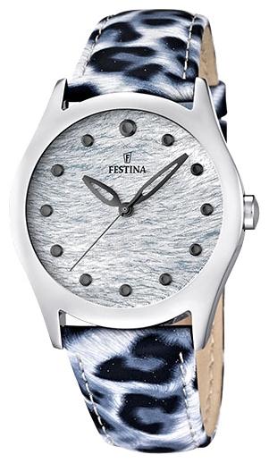 Festina F16648.1 - женские наручные часы из коллекции LadyFestina<br><br><br>Бренд: Festina<br>Модель: Festina F16648/1<br>Артикул: F16648.1<br>Вариант артикула: None<br>Коллекция: Lady<br>Подколлекция: None<br>Страна: Испания<br>Пол: женские<br>Тип механизма: кварцевые<br>Механизм: Miyota<br>Количество камней: None<br>Автоподзавод: None<br>Источник энергии: от батарейки<br>Срок службы элемента питания: None<br>Дисплей: стрелки<br>Цифры: отсутствуют<br>Водозащита: WR 50<br>Противоударные: None<br>Материал корпуса: нерж. сталь<br>Материал браслета: кожа<br>Материал безеля: None<br>Стекло: минеральное<br>Антибликовое покрытие: None<br>Цвет корпуса: None<br>Цвет браслета: None<br>Цвет циферблата: None<br>Цвет безеля: None<br>Размеры: 36 мм<br>Диаметр: None<br>Диаметр корпуса: None<br>Толщина: None<br>Ширина ремешка: None<br>Вес: None<br>Спорт-функции: None<br>Подсветка: None<br>Вставка: None<br>Отображение даты: None<br>Хронограф: None<br>Таймер: None<br>Термометр: None<br>Хронометр: None<br>GPS: None<br>Радиосинхронизация: None<br>Барометр: None<br>Скелетон: None<br>Дополнительная информация: элемент питания SR626SW, срок службы батарейки 3 года<br>Дополнительные функции: None