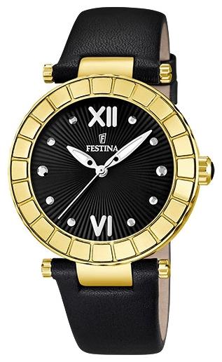 Festina F16647.3 - женские наручные часы из коллекции ChronographFestina<br><br><br>Бренд: Festina<br>Модель: Festina F16647/3<br>Артикул: F16647.3<br>Вариант артикула: None<br>Коллекция: Chronograph<br>Подколлекция: None<br>Страна: Испания<br>Пол: женские<br>Тип механизма: кварцевые<br>Механизм: Miyota<br>Количество камней: None<br>Автоподзавод: None<br>Источник энергии: от батарейки<br>Срок службы элемента питания: None<br>Дисплей: стрелки<br>Цифры: римские<br>Водозащита: WR 50<br>Противоударные: None<br>Материал корпуса: нерж. сталь, PVD покрытие: позолота (полное)<br>Материал браслета: кожа<br>Материал безеля: None<br>Стекло: минеральное<br>Антибликовое покрытие: None<br>Цвет корпуса: None<br>Цвет браслета: None<br>Цвет циферблата: None<br>Цвет безеля: None<br>Размеры: 38x10 мм<br>Диаметр: None<br>Диаметр корпуса: None<br>Толщина: None<br>Ширина ремешка: None<br>Вес: None<br>Спорт-функции: None<br>Подсветка: стрелок<br>Вставка: None<br>Отображение даты: None<br>Хронограф: None<br>Таймер: None<br>Термометр: None<br>Хронометр: None<br>GPS: None<br>Радиосинхронизация: None<br>Барометр: None<br>Скелетон: None<br>Дополнительная информация: элемент питания SR626SW, срок службы батарейки 3 года<br>Дополнительные функции: None