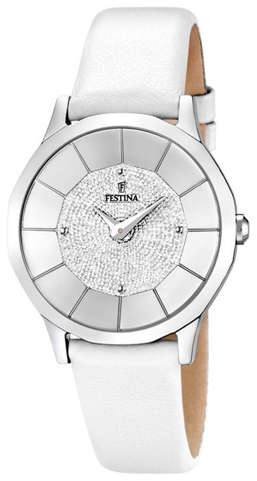 Festina F16661.1 - женские наручные часы из коллекции Lady ElegantFestina<br><br><br>Бренд: Festina<br>Модель: Festina F16661/1<br>Артикул: F16661.1<br>Вариант артикула: None<br>Коллекция: Lady Elegant<br>Подколлекция: None<br>Страна: Испания<br>Пол: женские<br>Тип механизма: кварцевые<br>Механизм: Miyota<br>Количество камней: None<br>Автоподзавод: None<br>Источник энергии: от батарейки<br>Срок службы элемента питания: None<br>Дисплей: стрелки<br>Цифры: отсутствуют<br>Водозащита: WR 50<br>Противоударные: None<br>Материал корпуса: нерж. сталь<br>Материал браслета: кожа<br>Материал безеля: None<br>Стекло: минеральное<br>Антибликовое покрытие: None<br>Цвет корпуса: None<br>Цвет браслета: None<br>Цвет циферблата: None<br>Цвет безеля: None<br>Размеры: 33 мм<br>Диаметр: None<br>Диаметр корпуса: None<br>Толщина: None<br>Ширина ремешка: None<br>Вес: None<br>Спорт-функции: None<br>Подсветка: None<br>Вставка: None<br>Отображение даты: None<br>Хронограф: None<br>Таймер: None<br>Термометр: None<br>Хронометр: None<br>GPS: None<br>Радиосинхронизация: None<br>Барометр: None<br>Скелетон: None<br>Дополнительная информация: None<br>Дополнительные функции: None