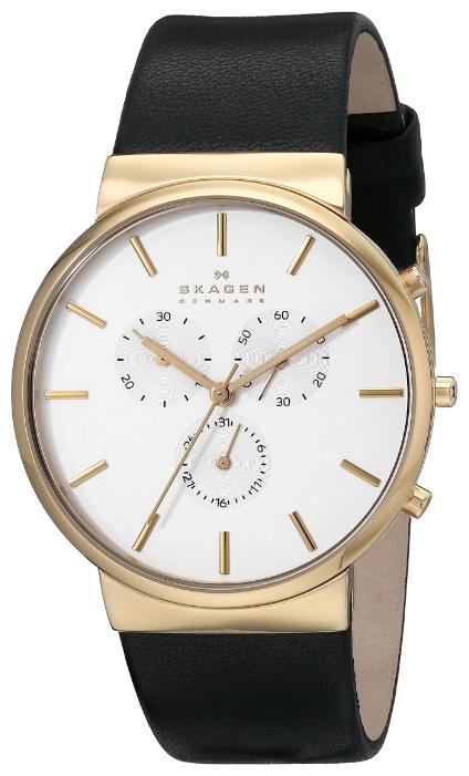Skagen SKW6143 - мужские наручные часы из коллекции LeatherSkagen<br><br><br>Бренд: Skagen<br>Модель: Skagen<br>Артикул: SKW6143<br>Вариант артикула: None<br>Коллекция: Leather<br>Подколлекция: None<br>Страна: Дания<br>Пол: мужские<br>Тип механизма: кварцевые<br>Механизм: None<br>Количество камней: None<br>Автоподзавод: None<br>Источник энергии: от батарейки<br>Срок службы элемента питания: None<br>Дисплей: стрелки<br>Цифры: отсутствуют<br>Водозащита: WR 30<br>Противоударные: None<br>Материал корпуса: нерж. сталь, IP покрытие (полное)<br>Материал браслета: кожа<br>Материал безеля: None<br>Стекло: минеральное<br>Антибликовое покрытие: None<br>Цвет корпуса: None<br>Цвет браслета: None<br>Цвет циферблата: None<br>Цвет безеля: None<br>Размеры: 40 мм<br>Диаметр: None<br>Диаметр корпуса: None<br>Толщина: None<br>Ширина ремешка: None<br>Вес: None<br>Спорт-функции: секундомер<br>Подсветка: None<br>Вставка: None<br>Отображение даты: число<br>Хронограф: есть<br>Таймер: None<br>Термометр: None<br>Хронометр: None<br>GPS: None<br>Радиосинхронизация: None<br>Барометр: None<br>Скелетон: None<br>Дополнительная информация: None<br>Дополнительные функции: None