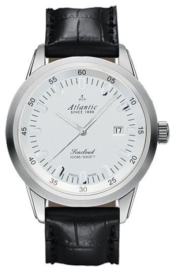 Atlantic 73360.41.21 - мужские наручные часы из коллекции SeacloudAtlantic<br><br><br>Бренд: Atlantic<br>Модель: Atlantic 73360.41.21<br>Артикул: 73360.41.21<br>Вариант артикула: None<br>Коллекция: Seacloud<br>Подколлекция: None<br>Страна: Швейцария<br>Пол: мужские<br>Тип механизма: кварцевые<br>Механизм: ETA F06.111<br>Количество камней: None<br>Автоподзавод: None<br>Источник энергии: от батарейки<br>Срок службы элемента питания: None<br>Дисплей: стрелки<br>Цифры: отсутствуют<br>Водозащита: WR 100<br>Противоударные: None<br>Материал корпуса: нерж. сталь<br>Материал браслета: кожа (теленок)<br>Материал безеля: None<br>Стекло: сапфировое<br>Антибликовое покрытие: есть<br>Цвет корпуса: None<br>Цвет браслета: None<br>Цвет циферблата: None<br>Цвет безеля: None<br>Размеры: 43 мм<br>Диаметр: None<br>Диаметр корпуса: None<br>Толщина: None<br>Ширина ремешка: None<br>Вес: None<br>Спорт-функции: None<br>Подсветка: None<br>Вставка: None<br>Отображение даты: число<br>Хронограф: None<br>Таймер: None<br>Термометр: None<br>Хронометр: None<br>GPS: None<br>Радиосинхронизация: None<br>Барометр: None<br>Скелетон: None<br>Дополнительная информация: None<br>Дополнительные функции: None