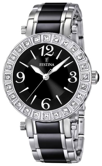 Festina F16643.2 - женские наручные часы из коллекции CeramicFestina<br><br><br>Бренд: Festina<br>Модель: Festina F16643/2<br>Артикул: F16643.2<br>Вариант артикула: None<br>Коллекция: Ceramic<br>Подколлекция: None<br>Страна: Испания<br>Пол: женские<br>Тип механизма: кварцевые<br>Механизм: None<br>Количество камней: None<br>Автоподзавод: None<br>Источник энергии: от батарейки<br>Срок службы элемента питания: None<br>Дисплей: стрелки<br>Цифры: арабские<br>Водозащита: WR 50<br>Противоударные: None<br>Материал корпуса: нерж. сталь<br>Материал браслета: нерж. сталь + керамика<br>Материал безеля: None<br>Стекло: минеральное<br>Антибликовое покрытие: None<br>Цвет корпуса: None<br>Цвет браслета: None<br>Цвет циферблата: None<br>Цвет безеля: None<br>Размеры: 38 мм<br>Диаметр: None<br>Диаметр корпуса: None<br>Толщина: None<br>Ширина ремешка: None<br>Вес: None<br>Спорт-функции: None<br>Подсветка: стрелок<br>Вставка: фианит<br>Отображение даты: None<br>Хронограф: None<br>Таймер: None<br>Термометр: None<br>Хронометр: None<br>GPS: None<br>Радиосинхронизация: None<br>Барометр: None<br>Скелетон: None<br>Дополнительная информация: срок службы батарейки 2 года<br>Дополнительные функции: None