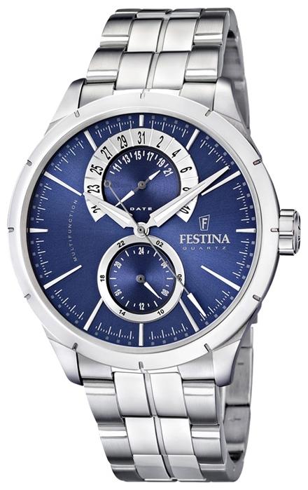 Festina F16632.2 - мужские наручные часы из коллекции RetroFestina<br><br><br>Бренд: Festina<br>Модель: Festina F16632/2<br>Артикул: F16632.2<br>Вариант артикула: None<br>Коллекция: Retro<br>Подколлекция: None<br>Страна: Испания<br>Пол: мужские<br>Тип механизма: кварцевые<br>Механизм: Miyota 6P73<br>Количество камней: None<br>Автоподзавод: None<br>Источник энергии: от батарейки<br>Срок службы элемента питания: None<br>Дисплей: стрелки<br>Цифры: отсутствуют<br>Водозащита: WR 50<br>Противоударные: None<br>Материал корпуса: нерж. сталь<br>Материал браслета: нерж. сталь<br>Материал безеля: None<br>Стекло: минеральное<br>Антибликовое покрытие: None<br>Цвет корпуса: None<br>Цвет браслета: None<br>Цвет циферблата: None<br>Цвет безеля: None<br>Размеры: 46 мм<br>Диаметр: None<br>Диаметр корпуса: None<br>Толщина: None<br>Ширина ремешка: None<br>Вес: None<br>Спорт-функции: None<br>Подсветка: стрелок<br>Вставка: None<br>Отображение даты: число<br>Хронограф: None<br>Таймер: None<br>Термометр: None<br>Хронометр: None<br>GPS: None<br>Радиосинхронизация: None<br>Барометр: None<br>Скелетон: None<br>Дополнительная информация: срок службы батарейки 3 года<br>Дополнительные функции: None