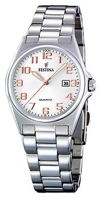 Festina F16375.7 - женские наручные часы из коллекции ClassicFestina<br><br><br>Бренд: Festina<br>Модель: Festina F16375/7<br>Артикул: F16375.7<br>Вариант артикула: None<br>Коллекция: Classic<br>Подколлекция: None<br>Страна: Испания<br>Пол: женские<br>Тип механизма: кварцевые<br>Механизм: M1L12<br>Количество камней: None<br>Автоподзавод: None<br>Источник энергии: от батарейки<br>Срок службы элемента питания: None<br>Дисплей: стрелки<br>Цифры: арабские<br>Водозащита: WR 50<br>Противоударные: None<br>Материал корпуса: нерж. сталь<br>Материал браслета: нерж. сталь<br>Материал безеля: None<br>Стекло: минеральное<br>Антибликовое покрытие: None<br>Цвет корпуса: None<br>Цвет браслета: None<br>Цвет циферблата: None<br>Цвет безеля: None<br>Размеры: 31 мм<br>Диаметр: None<br>Диаметр корпуса: None<br>Толщина: None<br>Ширина ремешка: None<br>Вес: None<br>Спорт-функции: None<br>Подсветка: стрелок<br>Вставка: None<br>Отображение даты: число<br>Хронограф: None<br>Таймер: None<br>Термометр: None<br>Хронометр: None<br>GPS: None<br>Радиосинхронизация: None<br>Барометр: None<br>Скелетон: None<br>Дополнительная информация: None<br>Дополнительные функции: None