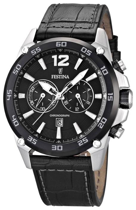 Festina F16673.4 - мужские наручные часы из коллекции SportFestina<br><br><br>Бренд: Festina<br>Модель: Festina F16673/4<br>Артикул: F16673.4<br>Вариант артикула: None<br>Коллекция: Sport<br>Подколлекция: None<br>Страна: Испания<br>Пол: мужские<br>Тип механизма: кварцевые<br>Механизм: M0S21<br>Количество камней: None<br>Автоподзавод: None<br>Источник энергии: от батарейки<br>Срок службы элемента питания: None<br>Дисплей: стрелки<br>Цифры: арабские<br>Водозащита: WR 100<br>Противоударные: None<br>Материал корпуса: нерж. сталь<br>Материал браслета: кожа<br>Материал безеля: None<br>Стекло: минеральное<br>Антибликовое покрытие: None<br>Цвет корпуса: None<br>Цвет браслета: None<br>Цвет циферблата: None<br>Цвет безеля: None<br>Размеры: 48x13 мм<br>Диаметр: None<br>Диаметр корпуса: None<br>Толщина: None<br>Ширина ремешка: None<br>Вес: 118 г<br>Спорт-функции: секундомер<br>Подсветка: стрелок<br>Вставка: None<br>Отображение даты: число<br>Хронограф: есть<br>Таймер: None<br>Термометр: None<br>Хронометр: None<br>GPS: None<br>Радиосинхронизация: None<br>Барометр: None<br>Скелетон: None<br>Дополнительная информация: элемент питания SR626SW, срок службы батареи 24 месяца<br>Дополнительные функции: None