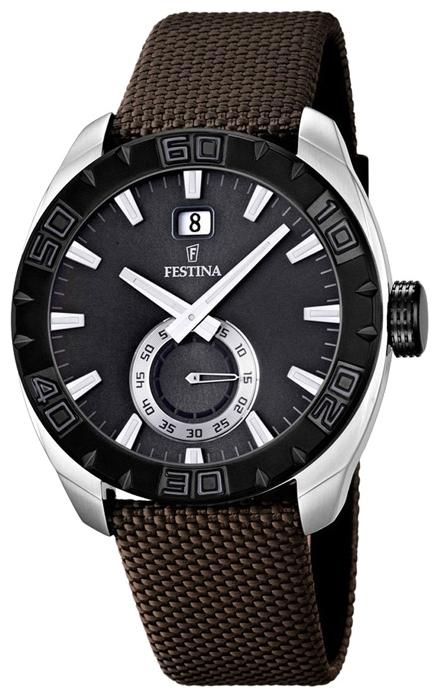 Festina F16674.2 - мужские наручные часы из коллекции SportFestina<br><br><br>Бренд: Festina<br>Модель: Festina F16674/2<br>Артикул: F16674.2<br>Вариант артикула: None<br>Коллекция: Sport<br>Подколлекция: None<br>Страна: Испания<br>Пол: мужские<br>Тип механизма: кварцевые<br>Механизм: Miyota<br>Количество камней: None<br>Автоподзавод: None<br>Источник энергии: от батарейки<br>Срок службы элемента питания: None<br>Дисплей: стрелки<br>Цифры: отсутствуют<br>Водозащита: WR 50<br>Противоударные: None<br>Материал корпуса: нерж. сталь, PVD покрытие (частичное)<br>Материал браслета: текстиль<br>Материал безеля: None<br>Стекло: минеральное<br>Антибликовое покрытие: None<br>Цвет корпуса: None<br>Цвет браслета: None<br>Цвет циферблата: None<br>Цвет безеля: None<br>Размеры: 44 мм<br>Диаметр: None<br>Диаметр корпуса: None<br>Толщина: None<br>Ширина ремешка: None<br>Вес: None<br>Спорт-функции: None<br>Подсветка: стрелок<br>Вставка: None<br>Отображение даты: число<br>Хронограф: None<br>Таймер: None<br>Термометр: None<br>Хронометр: None<br>GPS: None<br>Радиосинхронизация: None<br>Барометр: None<br>Скелетон: None<br>Дополнительная информация: элемент питания SR621SW, срок службы батарейки 3 года<br>Дополнительные функции: None