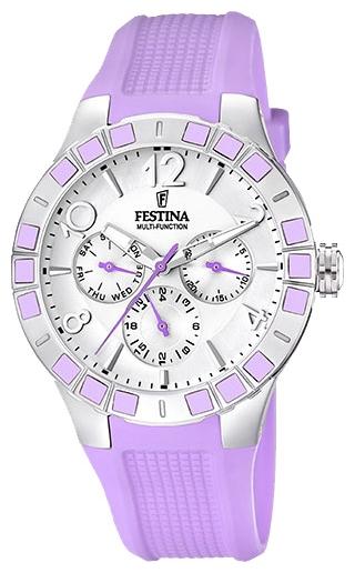 Festina F16675.2 - женские наручные часы из коллекции SportFestina<br><br><br>Бренд: Festina<br>Модель: Festina F16675/2<br>Артикул: F16675.2<br>Вариант артикула: None<br>Коллекция: Sport<br>Подколлекция: None<br>Страна: Испания<br>Пол: женские<br>Тип механизма: кварцевые<br>Механизм: Miyota<br>Количество камней: None<br>Автоподзавод: None<br>Источник энергии: от батарейки<br>Срок службы элемента питания: None<br>Дисплей: стрелки<br>Цифры: арабские<br>Водозащита: WR 50<br>Противоударные: None<br>Материал корпуса: нерж. сталь, покрытие: эмаль (частичное)<br>Материал браслета: силикон<br>Материал безеля: None<br>Стекло: минеральное<br>Антибликовое покрытие: None<br>Цвет корпуса: None<br>Цвет браслета: None<br>Цвет циферблата: None<br>Цвет безеля: None<br>Размеры: 42 мм<br>Диаметр: None<br>Диаметр корпуса: None<br>Толщина: None<br>Ширина ремешка: None<br>Вес: None<br>Спорт-функции: None<br>Подсветка: стрелок<br>Вставка: None<br>Отображение даты: число, день недели<br>Хронограф: None<br>Таймер: None<br>Термометр: None<br>Хронометр: None<br>GPS: None<br>Радиосинхронизация: None<br>Барометр: None<br>Скелетон: None<br>Дополнительная информация: элемент питания SR621SW, срок службы батарейки 3 года<br>Дополнительные функции: None