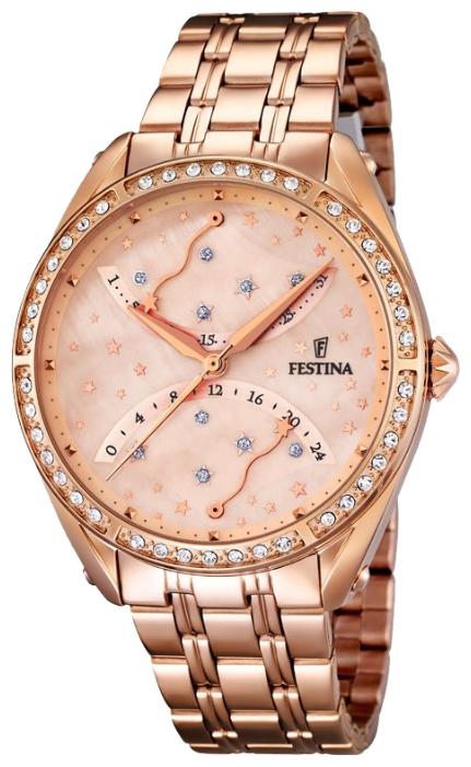 Festina F16742.2 - женские наручные часы из коллекции RetroFestina<br><br><br>Бренд: Festina<br>Модель: Festina F16742/2<br>Артикул: F16742.2<br>Вариант артикула: None<br>Коллекция: Retro<br>Подколлекция: None<br>Страна: Испания<br>Пол: женские<br>Тип механизма: кварцевые<br>Механизм: MGP50<br>Количество камней: None<br>Автоподзавод: None<br>Источник энергии: от батарейки<br>Срок службы элемента питания: None<br>Дисплей: стрелки<br>Цифры: отсутствуют<br>Водозащита: WR 50<br>Противоударные: None<br>Материал корпуса: нерж. сталь, PVD покрытие (полное)<br>Материал браслета: нерж. сталь, PVD покрытие (полное)<br>Материал безеля: None<br>Стекло: минеральное<br>Антибликовое покрытие: None<br>Цвет корпуса: None<br>Цвет браслета: None<br>Цвет циферблата: None<br>Цвет безеля: None<br>Размеры: 37.2 мм<br>Диаметр: None<br>Диаметр корпуса: None<br>Толщина: None<br>Ширина ремешка: None<br>Вес: None<br>Спорт-функции: None<br>Подсветка: None<br>Вставка: None<br>Отображение даты: число<br>Хронограф: None<br>Таймер: None<br>Термометр: None<br>Хронометр: None<br>GPS: None<br>Радиосинхронизация: None<br>Барометр: None<br>Скелетон: None<br>Дополнительная информация: None<br>Дополнительные функции: None
