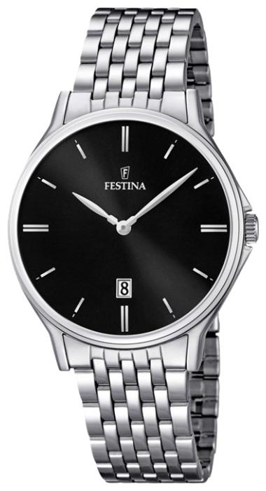 Festina F16744.4 - мужские наручные часы из коллекции ClassicFestina<br><br><br>Бренд: Festina<br>Модель: Festina F16744/4<br>Артикул: F16744.4<br>Вариант артикула: None<br>Коллекция: Classic<br>Подколлекция: None<br>Страна: Испания<br>Пол: мужские<br>Тип механизма: кварцевые<br>Механизм: MGM15<br>Количество камней: None<br>Автоподзавод: None<br>Источник энергии: от батарейки<br>Срок службы элемента питания: None<br>Дисплей: стрелки<br>Цифры: отсутствуют<br>Водозащита: WR 50<br>Противоударные: None<br>Материал корпуса: нерж. сталь<br>Материал браслета: нерж. сталь<br>Материал безеля: None<br>Стекло: минеральное<br>Антибликовое покрытие: None<br>Цвет корпуса: None<br>Цвет браслета: None<br>Цвет циферблата: None<br>Цвет безеля: None<br>Размеры: 39.2 мм<br>Диаметр: None<br>Диаметр корпуса: None<br>Толщина: None<br>Ширина ремешка: None<br>Вес: None<br>Спорт-функции: None<br>Подсветка: None<br>Вставка: None<br>Отображение даты: число<br>Хронограф: None<br>Таймер: None<br>Термометр: None<br>Хронометр: None<br>GPS: None<br>Радиосинхронизация: None<br>Барометр: None<br>Скелетон: None<br>Дополнительная информация: None<br>Дополнительные функции: None