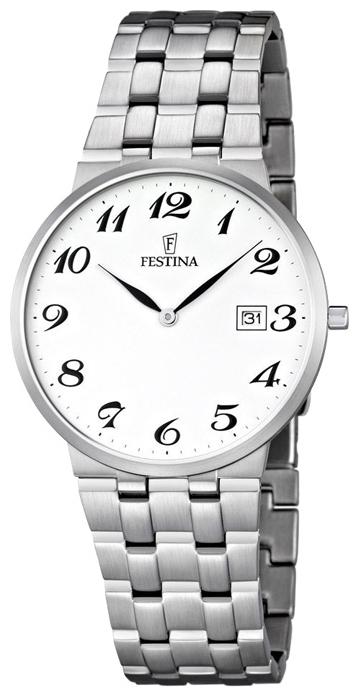 Festina F6825.4 - мужские наручные часы из коллекции Acero ModaFestina<br><br><br>Бренд: Festina<br>Модель: Festina F6825/4<br>Артикул: F6825.4<br>Вариант артикула: None<br>Коллекция: Acero Moda<br>Подколлекция: None<br>Страна: Испания<br>Пол: мужские<br>Тип механизма: кварцевые<br>Механизм: Miyota<br>Количество камней: None<br>Автоподзавод: None<br>Источник энергии: от батарейки<br>Срок службы элемента питания: None<br>Дисплей: стрелки<br>Цифры: арабские<br>Водозащита: WR 30<br>Противоударные: None<br>Материал корпуса: нерж. сталь<br>Материал браслета: нерж. сталь<br>Материал безеля: None<br>Стекло: минеральное<br>Антибликовое покрытие: None<br>Цвет корпуса: None<br>Цвет браслета: None<br>Цвет циферблата: None<br>Цвет безеля: None<br>Размеры: 38x6 мм<br>Диаметр: None<br>Диаметр корпуса: None<br>Толщина: None<br>Ширина ремешка: None<br>Вес: None<br>Спорт-функции: None<br>Подсветка: None<br>Вставка: None<br>Отображение даты: число<br>Хронограф: None<br>Таймер: None<br>Термометр: None<br>Хронометр: None<br>GPS: None<br>Радиосинхронизация: None<br>Барометр: None<br>Скелетон: None<br>Дополнительная информация: срок службы батарейки 36 месяцев<br>Дополнительные функции: None