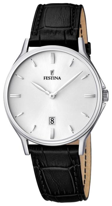 Festina F16745.2 - мужские наручные часы из коллекции ClassicFestina<br><br><br>Бренд: Festina<br>Модель: Festina F16745/2<br>Артикул: F16745.2<br>Вариант артикула: None<br>Коллекция: Classic<br>Подколлекция: None<br>Страна: Испания<br>Пол: мужские<br>Тип механизма: кварцевые<br>Механизм: MGL15<br>Количество камней: None<br>Автоподзавод: None<br>Источник энергии: от батарейки<br>Срок службы элемента питания: None<br>Дисплей: стрелки<br>Цифры: отсутствуют<br>Водозащита: WR 50<br>Противоударные: None<br>Материал корпуса: нерж. сталь<br>Материал браслета: кожа<br>Материал безеля: None<br>Стекло: минеральное<br>Антибликовое покрытие: None<br>Цвет корпуса: None<br>Цвет браслета: None<br>Цвет циферблата: None<br>Цвет безеля: None<br>Размеры: 39.2 мм<br>Диаметр: None<br>Диаметр корпуса: None<br>Толщина: None<br>Ширина ремешка: None<br>Вес: None<br>Спорт-функции: None<br>Подсветка: None<br>Вставка: None<br>Отображение даты: число<br>Хронограф: None<br>Таймер: None<br>Термометр: None<br>Хронометр: None<br>GPS: None<br>Радиосинхронизация: None<br>Барометр: None<br>Скелетон: None<br>Дополнительная информация: None<br>Дополнительные функции: None