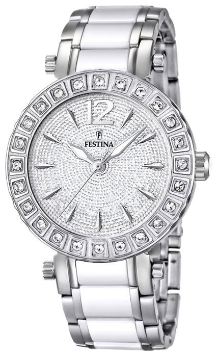 Festina F16643.3 - женские наручные часы из коллекции CeramicFestina<br><br><br>Бренд: Festina<br>Модель: Festina F16643/3<br>Артикул: F16643.3<br>Вариант артикула: None<br>Коллекция: Ceramic<br>Подколлекция: None<br>Страна: Испания<br>Пол: женские<br>Тип механизма: кварцевые<br>Механизм: None<br>Количество камней: None<br>Автоподзавод: None<br>Источник энергии: от батарейки<br>Срок службы элемента питания: None<br>Дисплей: стрелки<br>Цифры: арабские<br>Водозащита: WR 50<br>Противоударные: None<br>Материал корпуса: нерж. сталь<br>Материал браслета: нерж. сталь + керамика<br>Материал безеля: None<br>Стекло: минеральное<br>Антибликовое покрытие: None<br>Цвет корпуса: None<br>Цвет браслета: None<br>Цвет циферблата: None<br>Цвет безеля: None<br>Размеры: 38 мм<br>Диаметр: None<br>Диаметр корпуса: None<br>Толщина: None<br>Ширина ремешка: None<br>Вес: None<br>Спорт-функции: None<br>Подсветка: стрелок<br>Вставка: фианит<br>Отображение даты: None<br>Хронограф: None<br>Таймер: None<br>Термометр: None<br>Хронометр: None<br>GPS: None<br>Радиосинхронизация: None<br>Барометр: None<br>Скелетон: None<br>Дополнительная информация: срок службы батарейки 2 года<br>Дополнительные функции: None