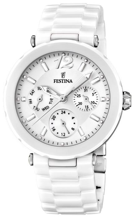 Festina F16641.1 - женские наручные часы из коллекции CeramicFestina<br><br><br>Бренд: Festina<br>Модель: Festina F16641/1<br>Артикул: F16641.1<br>Вариант артикула: None<br>Коллекция: Ceramic<br>Подколлекция: None<br>Страна: Испания<br>Пол: женские<br>Тип механизма: кварцевые<br>Механизм: None<br>Количество камней: None<br>Автоподзавод: None<br>Источник энергии: от батарейки<br>Срок службы элемента питания: None<br>Дисплей: стрелки<br>Цифры: арабские<br>Водозащита: WR 50<br>Противоударные: None<br>Материал корпуса: нерж. сталь + керамика<br>Материал браслета: керамика<br>Материал безеля: None<br>Стекло: минеральное<br>Антибликовое покрытие: None<br>Цвет корпуса: None<br>Цвет браслета: None<br>Цвет циферблата: None<br>Цвет безеля: None<br>Размеры: 38x38x19 мм<br>Диаметр: None<br>Диаметр корпуса: None<br>Толщина: None<br>Ширина ремешка: None<br>Вес: None<br>Спорт-функции: None<br>Подсветка: стрелок<br>Вставка: None<br>Отображение даты: число, день недели<br>Хронограф: None<br>Таймер: None<br>Термометр: None<br>Хронометр: None<br>GPS: None<br>Радиосинхронизация: None<br>Барометр: None<br>Скелетон: None<br>Дополнительная информация: None<br>Дополнительные функции: None