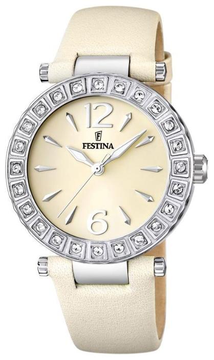 Festina F16645.2 - женские наручные часы из коллекции DreamFestina<br><br><br>Бренд: Festina<br>Модель: Festina F16645/2<br>Артикул: F16645.2<br>Вариант артикула: None<br>Коллекция: Dream<br>Подколлекция: None<br>Страна: Испания<br>Пол: женские<br>Тип механизма: кварцевые<br>Механизм: None<br>Количество камней: None<br>Автоподзавод: None<br>Источник энергии: от батарейки<br>Срок службы элемента питания: None<br>Дисплей: стрелки<br>Цифры: арабские<br>Водозащита: WR 50<br>Противоударные: None<br>Материал корпуса: нерж. сталь<br>Материал браслета: кожа<br>Материал безеля: None<br>Стекло: минеральное<br>Антибликовое покрытие: None<br>Цвет корпуса: None<br>Цвет браслета: None<br>Цвет циферблата: None<br>Цвет безеля: None<br>Размеры: 38x38x21 мм<br>Диаметр: None<br>Диаметр корпуса: None<br>Толщина: None<br>Ширина ремешка: None<br>Вес: None<br>Спорт-функции: None<br>Подсветка: стрелок<br>Вставка: циркон<br>Отображение даты: None<br>Хронограф: None<br>Таймер: None<br>Термометр: None<br>Хронометр: None<br>GPS: None<br>Радиосинхронизация: None<br>Барометр: None<br>Скелетон: None<br>Дополнительная информация: None<br>Дополнительные функции: None