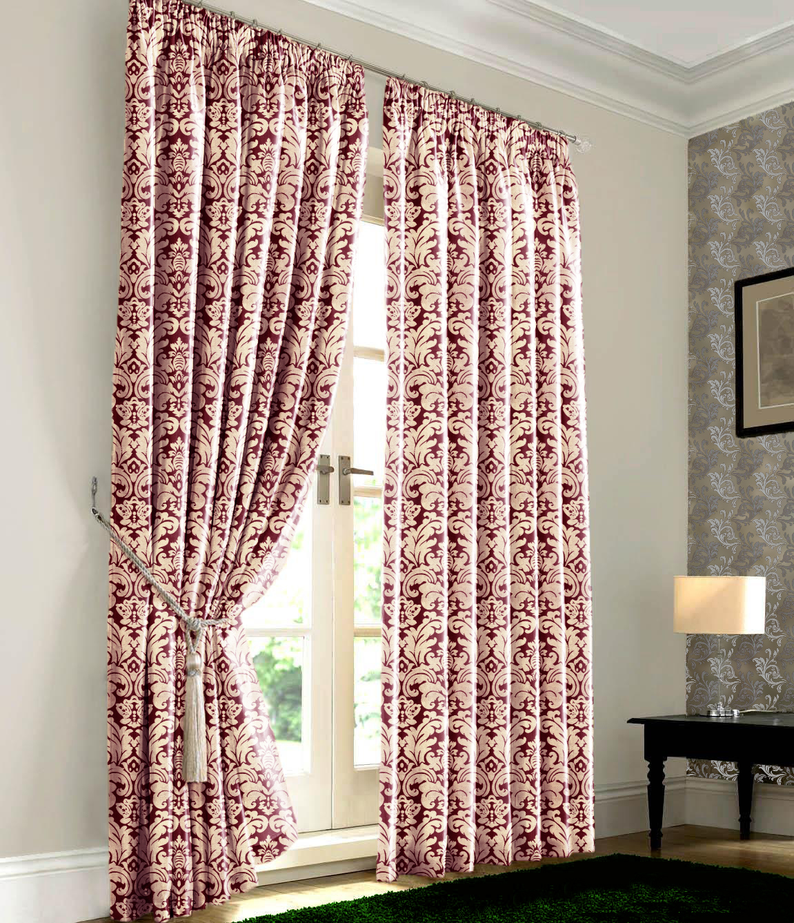 Lined bedroom curtains