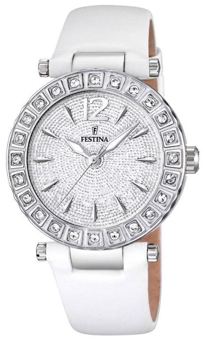 Festina F16645.3 - женские наручные часы из коллекции DreamFestina<br><br><br>Бренд: Festina<br>Модель: Festina F16645/3<br>Артикул: F16645.3<br>Вариант артикула: None<br>Коллекция: Dream<br>Подколлекция: None<br>Страна: Испания<br>Пол: женские<br>Тип механизма: кварцевые<br>Механизм: None<br>Количество камней: None<br>Автоподзавод: None<br>Источник энергии: от батарейки<br>Срок службы элемента питания: None<br>Дисплей: стрелки<br>Цифры: арабские<br>Водозащита: WR 50<br>Противоударные: None<br>Материал корпуса: нерж. сталь<br>Материал браслета: кожа<br>Материал безеля: None<br>Стекло: минеральное<br>Антибликовое покрытие: None<br>Цвет корпуса: None<br>Цвет браслета: None<br>Цвет циферблата: None<br>Цвет безеля: None<br>Размеры: 38x38x21 мм<br>Диаметр: None<br>Диаметр корпуса: None<br>Толщина: None<br>Ширина ремешка: None<br>Вес: None<br>Спорт-функции: None<br>Подсветка: стрелок<br>Вставка: циркон<br>Отображение даты: None<br>Хронограф: None<br>Таймер: None<br>Термометр: None<br>Хронометр: None<br>GPS: None<br>Радиосинхронизация: None<br>Барометр: None<br>Скелетон: None<br>Дополнительная информация: None<br>Дополнительные функции: None
