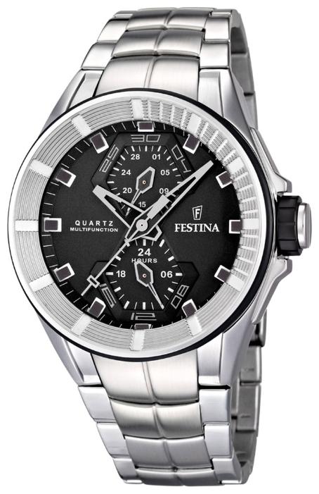 Festina F16652.4 - мужские наручные часы из коллекции SportFestina<br><br><br>Бренд: Festina<br>Модель: Festina F16652/4<br>Артикул: F16652.4<br>Вариант артикула: None<br>Коллекция: Sport<br>Подколлекция: None<br>Страна: Испания<br>Пол: мужские<br>Тип механизма: кварцевые<br>Механизм: None<br>Количество камней: None<br>Автоподзавод: None<br>Источник энергии: от батарейки<br>Срок службы элемента питания: None<br>Дисплей: стрелки<br>Цифры: отсутствуют<br>Водозащита: WR 100<br>Противоударные: None<br>Материал корпуса: нерж. сталь<br>Материал браслета: нерж. сталь<br>Материал безеля: None<br>Стекло: минеральное<br>Антибликовое покрытие: None<br>Цвет корпуса: None<br>Цвет браслета: None<br>Цвет циферблата: None<br>Цвет безеля: None<br>Размеры: 44x44x12 мм<br>Диаметр: None<br>Диаметр корпуса: None<br>Толщина: None<br>Ширина ремешка: None<br>Вес: None<br>Спорт-функции: None<br>Подсветка: None<br>Вставка: None<br>Отображение даты: число<br>Хронограф: None<br>Таймер: None<br>Термометр: None<br>Хронометр: None<br>GPS: None<br>Радиосинхронизация: None<br>Барометр: None<br>Скелетон: None<br>Дополнительная информация: None<br>Дополнительные функции: None