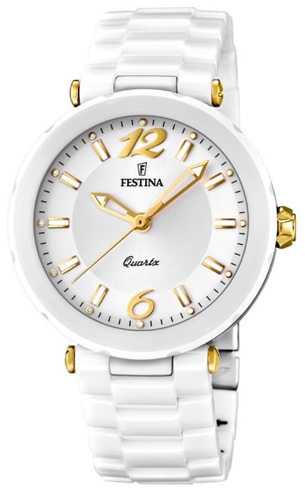 Festina F16640.3 - женские наручные часы из коллекции CeramicFestina<br><br><br>Бренд: Festina<br>Модель: Festina F16640/3<br>Артикул: F16640.3<br>Вариант артикула: None<br>Коллекция: Ceramic<br>Подколлекция: None<br>Страна: Испания<br>Пол: женские<br>Тип механизма: кварцевые<br>Механизм: None<br>Количество камней: None<br>Автоподзавод: None<br>Источник энергии: от батарейки<br>Срок службы элемента питания: None<br>Дисплей: стрелки<br>Цифры: арабские<br>Водозащита: WR 50<br>Противоударные: None<br>Материал корпуса: нерж. сталь + керамика, покрытие: позолота (частичное)<br>Материал браслета: керамика<br>Материал безеля: None<br>Стекло: минеральное<br>Антибликовое покрытие: None<br>Цвет корпуса: None<br>Цвет браслета: None<br>Цвет циферблата: None<br>Цвет безеля: None<br>Размеры: 38x38x19 мм<br>Диаметр: None<br>Диаметр корпуса: None<br>Толщина: None<br>Ширина ремешка: None<br>Вес: None<br>Спорт-функции: None<br>Подсветка: стрелок<br>Вставка: None<br>Отображение даты: None<br>Хронограф: None<br>Таймер: None<br>Термометр: None<br>Хронометр: None<br>GPS: None<br>Радиосинхронизация: None<br>Барометр: None<br>Скелетон: None<br>Дополнительная информация: None<br>Дополнительные функции: None