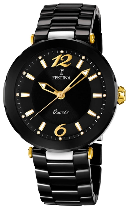 Festina F16640.4 - женские наручные часы из коллекции CeramicFestina<br><br><br>Бренд: Festina<br>Модель: Festina F16640/4<br>Артикул: F16640.4<br>Вариант артикула: None<br>Коллекция: Ceramic<br>Подколлекция: None<br>Страна: Испания<br>Пол: женские<br>Тип механизма: кварцевые<br>Механизм: None<br>Количество камней: None<br>Автоподзавод: None<br>Источник энергии: от батарейки<br>Срок службы элемента питания: None<br>Дисплей: стрелки<br>Цифры: арабские<br>Водозащита: WR 50<br>Противоударные: None<br>Материал корпуса: нерж. сталь + керамика, покрытие: позолота (частичное)<br>Материал браслета: керамика<br>Материал безеля: None<br>Стекло: минеральное<br>Антибликовое покрытие: None<br>Цвет корпуса: None<br>Цвет браслета: None<br>Цвет циферблата: None<br>Цвет безеля: None<br>Размеры: 38x38x19 мм<br>Диаметр: None<br>Диаметр корпуса: None<br>Толщина: None<br>Ширина ремешка: None<br>Вес: None<br>Спорт-функции: None<br>Подсветка: стрелок<br>Вставка: None<br>Отображение даты: None<br>Хронограф: None<br>Таймер: None<br>Термометр: None<br>Хронометр: None<br>GPS: None<br>Радиосинхронизация: None<br>Барометр: None<br>Скелетон: None<br>Дополнительная информация: None<br>Дополнительные функции: None