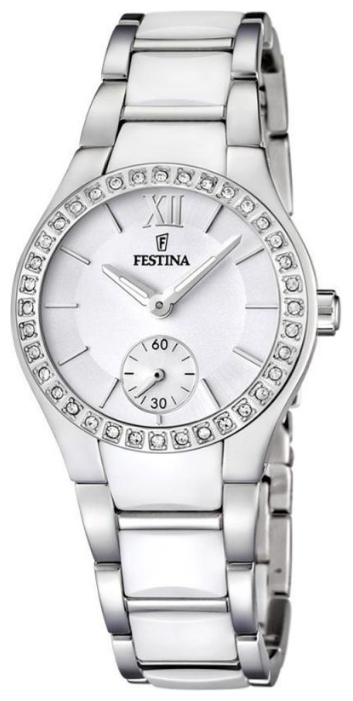 Festina F16637.1 - женские наручные часы из коллекции CeramicFestina<br><br><br>Бренд: Festina<br>Модель: Festina F16637/1<br>Артикул: F16637.1<br>Вариант артикула: None<br>Коллекция: Ceramic<br>Подколлекция: None<br>Страна: Испания<br>Пол: женские<br>Тип механизма: кварцевые<br>Механизм: None<br>Количество камней: None<br>Автоподзавод: None<br>Источник энергии: от батарейки<br>Срок службы элемента питания: None<br>Дисплей: стрелки<br>Цифры: римские<br>Водозащита: WR 50<br>Противоударные: None<br>Материал корпуса: нерж. сталь<br>Материал браслета: нерж. сталь + керамика<br>Материал безеля: None<br>Стекло: минеральное<br>Антибликовое покрытие: None<br>Цвет корпуса: None<br>Цвет браслета: None<br>Цвет циферблата: None<br>Цвет безеля: None<br>Размеры: 32x32x9 мм<br>Диаметр: None<br>Диаметр корпуса: None<br>Толщина: None<br>Ширина ремешка: None<br>Вес: None<br>Спорт-функции: None<br>Подсветка: стрелок<br>Вставка: None<br>Отображение даты: None<br>Хронограф: None<br>Таймер: None<br>Термометр: None<br>Хронометр: None<br>GPS: None<br>Радиосинхронизация: None<br>Барометр: None<br>Скелетон: None<br>Дополнительная информация: None<br>Дополнительные функции: None