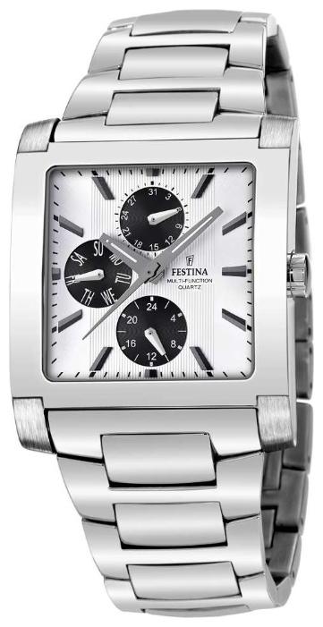 Festina F16234.G - мужские наручные часы из коллекции MultifunctionFestina<br><br><br>Бренд: Festina<br>Модель: Festina F16234/G<br>Артикул: F16234.G<br>Вариант артикула: None<br>Коллекция: Multifunction<br>Подколлекция: None<br>Страна: Испания<br>Пол: мужские<br>Тип механизма: кварцевые<br>Механизм: M6P27<br>Количество камней: None<br>Автоподзавод: None<br>Источник энергии: от батарейки<br>Срок службы элемента питания: None<br>Дисплей: стрелки<br>Цифры: арабские<br>Водозащита: WR 50<br>Противоударные: None<br>Материал корпуса: нерж. сталь<br>Материал браслета: нерж. сталь<br>Материал безеля: None<br>Стекло: минеральное<br>Антибликовое покрытие: None<br>Цвет корпуса: None<br>Цвет браслета: None<br>Цвет циферблата: None<br>Цвет безеля: None<br>Размеры: 37x10 мм<br>Диаметр: None<br>Диаметр корпуса: None<br>Толщина: None<br>Ширина ремешка: None<br>Вес: None<br>Спорт-функции: None<br>Подсветка: стрелок<br>Вставка: None<br>Отображение даты: число, день недели<br>Хронограф: None<br>Таймер: None<br>Термометр: None<br>Хронометр: None<br>GPS: None<br>Радиосинхронизация: None<br>Барометр: None<br>Скелетон: None<br>Дополнительная информация: None<br>Дополнительные функции: None