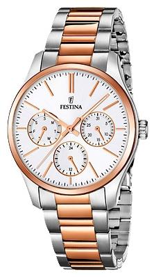 Festina F16814.2 - женские наручные часы из коллекции MultifunctionFestina<br><br><br>Бренд: Festina<br>Модель: Festina F16814/2<br>Артикул: F16814.2<br>Вариант артикула: None<br>Коллекция: Multifunction<br>Подколлекция: None<br>Страна: Испания<br>Пол: женские<br>Тип механизма: кварцевые<br>Механизм: M6P29<br>Количество камней: None<br>Автоподзавод: None<br>Источник энергии: от батарейки<br>Срок службы элемента питания: None<br>Дисплей: стрелки<br>Цифры: отсутствуют<br>Водозащита: WR 50<br>Противоударные: None<br>Материал корпуса: нерж. сталь, PVD покрытие (частичное)<br>Материал браслета: нерж. сталь, PVD покрытие (частичное)<br>Материал безеля: None<br>Стекло: минеральное<br>Антибликовое покрытие: None<br>Цвет корпуса: None<br>Цвет браслета: None<br>Цвет циферблата: None<br>Цвет безеля: None<br>Размеры: 36 мм<br>Диаметр: None<br>Диаметр корпуса: None<br>Толщина: None<br>Ширина ремешка: None<br>Вес: None<br>Спорт-функции: None<br>Подсветка: стрелок<br>Вставка: None<br>Отображение даты: число, день недели<br>Хронограф: None<br>Таймер: None<br>Термометр: None<br>Хронометр: None<br>GPS: None<br>Радиосинхронизация: None<br>Барометр: None<br>Скелетон: None<br>Дополнительная информация: None<br>Дополнительные функции: None