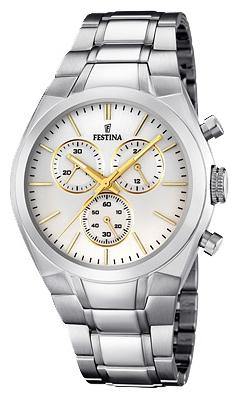 Festina F16782.4 - мужские наручные часы из коллекции ChronographFestina<br><br><br>Бренд: Festina<br>Модель: Festina F16782/4<br>Артикул: F16782.4<br>Вариант артикула: None<br>Коллекция: Chronograph<br>Подколлекция: None<br>Страна: Испания<br>Пол: мужские<br>Тип механизма: кварцевые<br>Механизм: MJS00<br>Количество камней: None<br>Автоподзавод: None<br>Источник энергии: от батарейки<br>Срок службы элемента питания: None<br>Дисплей: стрелки<br>Цифры: отсутствуют<br>Водозащита: WR 50<br>Противоударные: None<br>Материал корпуса: нерж. сталь<br>Материал браслета: нерж. сталь<br>Материал безеля: None<br>Стекло: минеральное<br>Антибликовое покрытие: None<br>Цвет корпуса: None<br>Цвет браслета: None<br>Цвет циферблата: None<br>Цвет безеля: None<br>Размеры: 45 мм<br>Диаметр: None<br>Диаметр корпуса: None<br>Толщина: None<br>Ширина ремешка: None<br>Вес: None<br>Спорт-функции: секундомер<br>Подсветка: стрелок<br>Вставка: None<br>Отображение даты: None<br>Хронограф: есть<br>Таймер: None<br>Термометр: None<br>Хронометр: None<br>GPS: None<br>Радиосинхронизация: None<br>Барометр: None<br>Скелетон: None<br>Дополнительная информация: None<br>Дополнительные функции: None