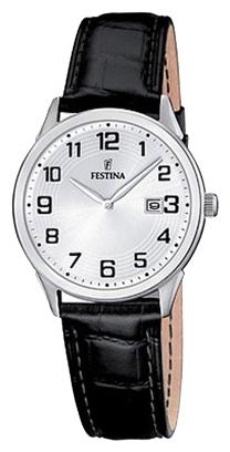 Festina F16519.1 - женские наручные часы из коллекции ClassicFestina<br><br><br>Бренд: Festina<br>Модель: Festina F16519/1<br>Артикул: F16519.1<br>Вариант артикула: None<br>Коллекция: Classic<br>Подколлекция: None<br>Страна: Испания<br>Пол: женские<br>Тип механизма: кварцевые<br>Механизм: None<br>Количество камней: None<br>Автоподзавод: None<br>Источник энергии: от батарейки<br>Срок службы элемента питания: None<br>Дисплей: стрелки<br>Цифры: арабские<br>Водозащита: WR 50<br>Противоударные: None<br>Материал корпуса: нерж. сталь<br>Материал браслета: кожа<br>Материал безеля: None<br>Стекло: минеральное<br>Антибликовое покрытие: None<br>Цвет корпуса: None<br>Цвет браслета: None<br>Цвет циферблата: None<br>Цвет безеля: None<br>Размеры: 30x7 мм<br>Диаметр: None<br>Диаметр корпуса: None<br>Толщина: None<br>Ширина ремешка: None<br>Вес: None<br>Спорт-функции: None<br>Подсветка: None<br>Вставка: None<br>Отображение даты: число<br>Хронограф: None<br>Таймер: None<br>Термометр: None<br>Хронометр: None<br>GPS: None<br>Радиосинхронизация: None<br>Барометр: None<br>Скелетон: None<br>Дополнительная информация: None<br>Дополнительные функции: None