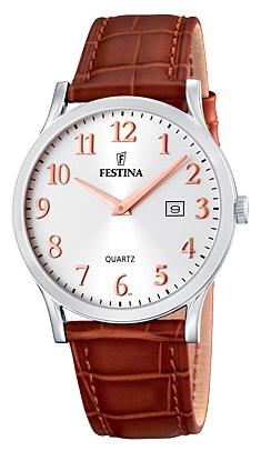 Festina F16520.3 - мужские наручные часы из коллекции ClassicFestina<br><br><br>Бренд: Festina<br>Модель: Festina F16520/3<br>Артикул: F16520.3<br>Вариант артикула: None<br>Коллекция: Classic<br>Подколлекция: None<br>Страна: Испания<br>Пол: мужские<br>Тип механизма: кварцевые<br>Механизм: M9U15<br>Количество камней: None<br>Автоподзавод: None<br>Источник энергии: от батарейки<br>Срок службы элемента питания: None<br>Дисплей: стрелки<br>Цифры: арабские<br>Водозащита: WR 50<br>Противоударные: None<br>Материал корпуса: нерж. сталь<br>Материал браслета: кожа<br>Материал безеля: None<br>Стекло: минеральное<br>Антибликовое покрытие: None<br>Цвет корпуса: None<br>Цвет браслета: None<br>Цвет циферблата: None<br>Цвет безеля: None<br>Размеры: 40 мм<br>Диаметр: None<br>Диаметр корпуса: None<br>Толщина: None<br>Ширина ремешка: None<br>Вес: None<br>Спорт-функции: None<br>Подсветка: None<br>Вставка: None<br>Отображение даты: число<br>Хронограф: None<br>Таймер: None<br>Термометр: None<br>Хронометр: None<br>GPS: None<br>Радиосинхронизация: None<br>Барометр: None<br>Скелетон: None<br>Дополнительная информация: None<br>Дополнительные функции: None