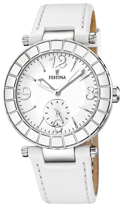 Festina F16619.1 - женские наручные часы из коллекции ClassicFestina<br><br><br>Бренд: Festina<br>Модель: Festina F16619/1<br>Артикул: F16619.1<br>Вариант артикула: None<br>Коллекция: Classic<br>Подколлекция: None<br>Страна: Испания<br>Пол: женские<br>Тип механизма: кварцевые<br>Механизм: M1L45<br>Количество камней: None<br>Автоподзавод: None<br>Источник энергии: от батарейки<br>Срок службы элемента питания: None<br>Дисплей: стрелки<br>Цифры: арабские<br>Водозащита: WR 50<br>Противоударные: None<br>Материал корпуса: нерж. сталь<br>Материал браслета: кожа<br>Материал безеля: None<br>Стекло: минеральное<br>Антибликовое покрытие: None<br>Цвет корпуса: None<br>Цвет браслета: None<br>Цвет циферблата: None<br>Цвет безеля: None<br>Размеры: 38 мм<br>Диаметр: None<br>Диаметр корпуса: None<br>Толщина: None<br>Ширина ремешка: None<br>Вес: None<br>Спорт-функции: None<br>Подсветка: стрелок<br>Вставка: None<br>Отображение даты: None<br>Хронограф: None<br>Таймер: None<br>Термометр: None<br>Хронометр: None<br>GPS: None<br>Радиосинхронизация: None<br>Барометр: None<br>Скелетон: None<br>Дополнительная информация: None<br>Дополнительные функции: None