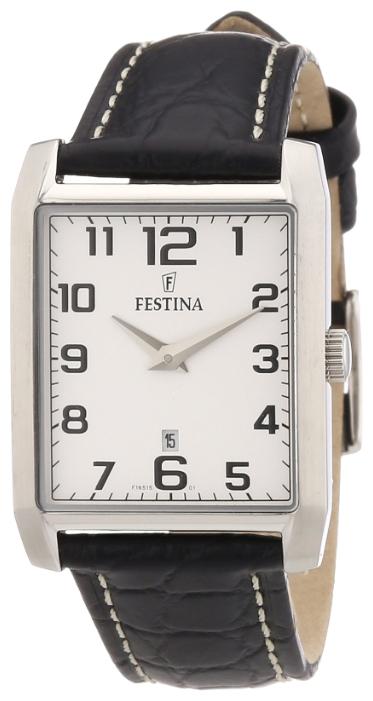 Festina F16515.1 - женские наручные часы из коллекции ClassicFestina<br><br><br>Бренд: Festina<br>Модель: Festina F16515/1<br>Артикул: F16515.1<br>Вариант артикула: None<br>Коллекция: Classic<br>Подколлекция: None<br>Страна: Испания<br>Пол: женские<br>Тип механизма: кварцевые<br>Механизм: None<br>Количество камней: None<br>Автоподзавод: None<br>Источник энергии: от батарейки<br>Срок службы элемента питания: None<br>Дисплей: стрелки<br>Цифры: арабские<br>Водозащита: None<br>Противоударные: None<br>Материал корпуса: нерж. сталь<br>Материал браслета: кожа<br>Материал безеля: None<br>Стекло: минеральное<br>Антибликовое покрытие: None<br>Цвет корпуса: None<br>Цвет браслета: None<br>Цвет циферблата: None<br>Цвет безеля: None<br>Размеры: None<br>Диаметр: None<br>Диаметр корпуса: None<br>Толщина: None<br>Ширина ремешка: None<br>Вес: None<br>Спорт-функции: None<br>Подсветка: None<br>Вставка: None<br>Отображение даты: число<br>Хронограф: None<br>Таймер: None<br>Термометр: None<br>Хронометр: None<br>GPS: None<br>Радиосинхронизация: None<br>Барометр: None<br>Скелетон: None<br>Дополнительная информация: None<br>Дополнительные функции: None
