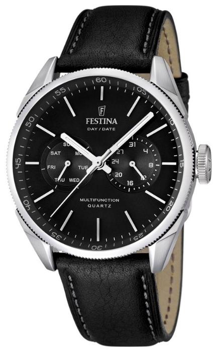 Festina F16629.8 - мужские наручные часы из коллекции MultifunctionFestina<br><br><br>Бренд: Festina<br>Модель: Festina F16629/8<br>Артикул: F16629.8<br>Вариант артикула: None<br>Коллекция: Multifunction<br>Подколлекция: None<br>Страна: Испания<br>Пол: мужские<br>Тип механизма: кварцевые<br>Механизм: M6P25<br>Количество камней: None<br>Автоподзавод: None<br>Источник энергии: от батарейки<br>Срок службы элемента питания: None<br>Дисплей: стрелки<br>Цифры: отсутствуют<br>Водозащита: WR 50<br>Противоударные: None<br>Материал корпуса: нерж. сталь<br>Материал браслета: кожа<br>Материал безеля: None<br>Стекло: минеральное<br>Антибликовое покрытие: None<br>Цвет корпуса: None<br>Цвет браслета: None<br>Цвет циферблата: None<br>Цвет безеля: None<br>Размеры: 43x43x11 мм<br>Диаметр: None<br>Диаметр корпуса: None<br>Толщина: None<br>Ширина ремешка: None<br>Вес: None<br>Спорт-функции: None<br>Подсветка: стрелок<br>Вставка: None<br>Отображение даты: число, день недели<br>Хронограф: None<br>Таймер: None<br>Термометр: None<br>Хронометр: None<br>GPS: None<br>Радиосинхронизация: None<br>Барометр: None<br>Скелетон: None<br>Дополнительная информация: None<br>Дополнительные функции: None