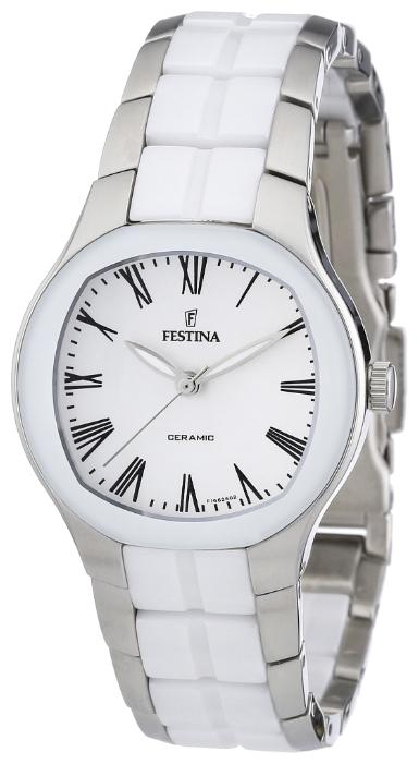 Festina F16626.2 - женские наручные часы из коллекции CeramicFestina<br><br><br>Бренд: Festina<br>Модель: Festina F16626/2<br>Артикул: F16626.2<br>Вариант артикула: None<br>Коллекция: Ceramic<br>Подколлекция: None<br>Страна: Испания<br>Пол: женские<br>Тип механизма: кварцевые<br>Механизм: None<br>Количество камней: None<br>Автоподзавод: None<br>Источник энергии: от батарейки<br>Срок службы элемента питания: None<br>Дисплей: стрелки<br>Цифры: римские<br>Водозащита: WR 50<br>Противоударные: None<br>Материал корпуса: нерж. сталь + керамика<br>Материал браслета: нерж. сталь + керамика<br>Материал безеля: None<br>Стекло: минеральное<br>Антибликовое покрытие: None<br>Цвет корпуса: None<br>Цвет браслета: None<br>Цвет циферблата: None<br>Цвет безеля: None<br>Размеры: 32 мм<br>Диаметр: None<br>Диаметр корпуса: None<br>Толщина: None<br>Ширина ремешка: None<br>Вес: None<br>Спорт-функции: None<br>Подсветка: стрелок<br>Вставка: None<br>Отображение даты: None<br>Хронограф: None<br>Таймер: None<br>Термометр: None<br>Хронометр: None<br>GPS: None<br>Радиосинхронизация: None<br>Барометр: None<br>Скелетон: None<br>Дополнительная информация: None<br>Дополнительные функции: None