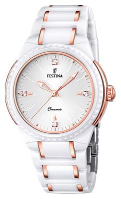 Festina F16698.5 - женские наручные часы из коллекции CeramicFestina<br><br><br>Бренд: Festina<br>Модель: Festina F16698/5<br>Артикул: F16698.5<br>Вариант артикула: None<br>Коллекция: Ceramic<br>Подколлекция: None<br>Страна: Испания<br>Пол: женские<br>Тип механизма: кварцевые<br>Механизм: M2035<br>Количество камней: None<br>Автоподзавод: None<br>Источник энергии: от батарейки<br>Срок службы элемента питания: None<br>Дисплей: стрелки<br>Цифры: отсутствуют<br>Водозащита: WR 50<br>Противоударные: None<br>Материал корпуса: нерж. сталь + керамика, частичное покрытие корпуса<br>Материал браслета: нерж. сталь + керамика, частичное дополнительное покрытие<br>Материал безеля: None<br>Стекло: минеральное<br>Антибликовое покрытие: None<br>Цвет корпуса: None<br>Цвет браслета: None<br>Цвет циферблата: None<br>Цвет безеля: None<br>Размеры: 38 мм<br>Диаметр: None<br>Диаметр корпуса: None<br>Толщина: None<br>Ширина ремешка: None<br>Вес: None<br>Спорт-функции: None<br>Подсветка: стрелок<br>Вставка: None<br>Отображение даты: None<br>Хронограф: None<br>Таймер: None<br>Термометр: None<br>Хронометр: None<br>GPS: None<br>Радиосинхронизация: None<br>Барометр: None<br>Скелетон: None<br>Дополнительная информация: None<br>Дополнительные функции: None