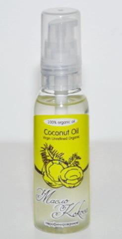 Косметическое кокосовое масло Virgin, 50 мл (DeoNat)