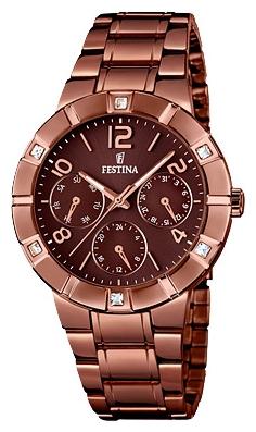 Festina F16710.2 - женские наручные часы из коллекции MultifunctionFestina<br><br><br>Бренд: Festina<br>Модель: Festina F16710/2<br>Артикул: F16710.2<br>Вариант артикула: None<br>Коллекция: Multifunction<br>Подколлекция: None<br>Страна: Испания<br>Пол: женские<br>Тип механизма: кварцевые<br>Механизм: M6P29<br>Количество камней: None<br>Автоподзавод: None<br>Источник энергии: от батарейки<br>Срок службы элемента питания: None<br>Дисплей: стрелки<br>Цифры: арабские<br>Водозащита: WR 50<br>Противоударные: None<br>Материал корпуса: нерж. сталь, PVD покрытие (полное)<br>Материал браслета: нерж. сталь, PVD покрытие (полное)<br>Материал безеля: None<br>Стекло: минеральное<br>Антибликовое покрытие: None<br>Цвет корпуса: None<br>Цвет браслета: None<br>Цвет циферблата: None<br>Цвет безеля: None<br>Размеры: 36 мм<br>Диаметр: None<br>Диаметр корпуса: None<br>Толщина: None<br>Ширина ремешка: None<br>Вес: None<br>Спорт-функции: None<br>Подсветка: стрелок<br>Вставка: циркон<br>Отображение даты: число, день недели<br>Хронограф: None<br>Таймер: None<br>Термометр: None<br>Хронометр: None<br>GPS: None<br>Радиосинхронизация: None<br>Барометр: None<br>Скелетон: None<br>Дополнительная информация: None<br>Дополнительные функции: None