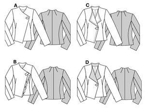 Выкройки женских пиджаков в бурде