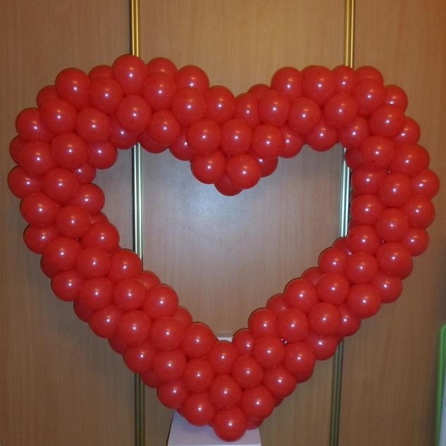 Сердца из шаров без каркаса своими руками 645