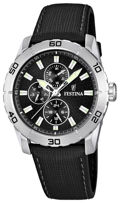 Festina F16607.4 - мужские наручные часы из коллекции MultifunctionFestina<br><br><br>Бренд: Festina<br>Модель: Festina F16607/4<br>Артикул: F16607.4<br>Вариант артикула: None<br>Коллекция: Multifunction<br>Подколлекция: None<br>Страна: Испания<br>Пол: мужские<br>Тип механизма: кварцевые<br>Механизм: M6P27<br>Количество камней: None<br>Автоподзавод: None<br>Источник энергии: от батарейки<br>Срок службы элемента питания: None<br>Дисплей: стрелки<br>Цифры: отсутствуют<br>Водозащита: WR 50<br>Противоударные: None<br>Материал корпуса: нерж. сталь<br>Материал браслета: кожа<br>Материал безеля: None<br>Стекло: минеральное<br>Антибликовое покрытие: None<br>Цвет корпуса: None<br>Цвет браслета: None<br>Цвет циферблата: None<br>Цвет безеля: None<br>Размеры: 44 мм<br>Диаметр: None<br>Диаметр корпуса: None<br>Толщина: None<br>Ширина ремешка: None<br>Вес: None<br>Спорт-функции: None<br>Подсветка: стрелок<br>Вставка: None<br>Отображение даты: число, день недели<br>Хронограф: None<br>Таймер: None<br>Термометр: None<br>Хронометр: None<br>GPS: None<br>Радиосинхронизация: None<br>Барометр: None<br>Скелетон: None<br>Дополнительная информация: None<br>Дополнительные функции: второй часовой пояс