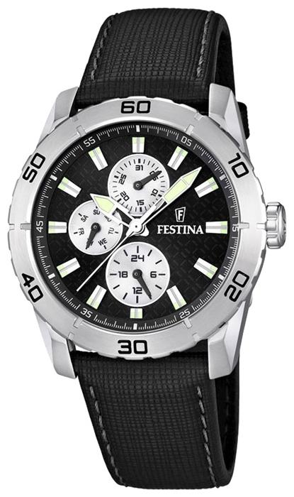Festina F16607.3 - мужские наручные часы из коллекции MultifunctionFestina<br><br><br>Бренд: Festina<br>Модель: Festina F16607/3<br>Артикул: F16607.3<br>Вариант артикула: None<br>Коллекция: Multifunction<br>Подколлекция: None<br>Страна: Испания<br>Пол: мужские<br>Тип механизма: кварцевые<br>Механизм: M6P27<br>Количество камней: None<br>Автоподзавод: None<br>Источник энергии: от батарейки<br>Срок службы элемента питания: None<br>Дисплей: стрелки<br>Цифры: отсутствуют<br>Водозащита: WR 50<br>Противоударные: None<br>Материал корпуса: нерж. сталь<br>Материал браслета: кожа<br>Материал безеля: None<br>Стекло: минеральное<br>Антибликовое покрытие: None<br>Цвет корпуса: None<br>Цвет браслета: None<br>Цвет циферблата: None<br>Цвет безеля: None<br>Размеры: 44 мм<br>Диаметр: None<br>Диаметр корпуса: None<br>Толщина: None<br>Ширина ремешка: None<br>Вес: None<br>Спорт-функции: None<br>Подсветка: стрелок<br>Вставка: None<br>Отображение даты: число, день недели<br>Хронограф: None<br>Таймер: None<br>Термометр: None<br>Хронометр: None<br>GPS: None<br>Радиосинхронизация: None<br>Барометр: None<br>Скелетон: None<br>Дополнительная информация: None<br>Дополнительные функции: второй часовой пояс