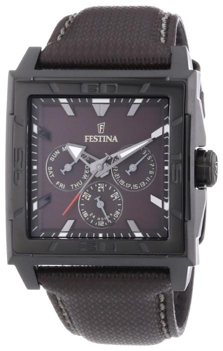 Festina F16569.6 - мужские наручные часы из коллекции MultifunctionFestina<br><br><br>Бренд: Festina<br>Модель: Festina F16569/6<br>Артикул: F16569.6<br>Вариант артикула: None<br>Коллекция: Multifunction<br>Подколлекция: None<br>Страна: Испания<br>Пол: мужские<br>Тип механизма: кварцевые<br>Механизм: M6P79<br>Количество камней: None<br>Автоподзавод: None<br>Источник энергии: от батарейки<br>Срок службы элемента питания: None<br>Дисплей: стрелки<br>Цифры: отсутствуют<br>Водозащита: WR 50<br>Противоударные: None<br>Материал корпуса: нерж. сталь, PVD покрытие (полное)<br>Материал браслета: кожа<br>Материал безеля: None<br>Стекло: минеральное<br>Антибликовое покрытие: None<br>Цвет корпуса: None<br>Цвет браслета: None<br>Цвет циферблата: None<br>Цвет безеля: None<br>Размеры: 41x11.5 мм<br>Диаметр: None<br>Диаметр корпуса: None<br>Толщина: None<br>Ширина ремешка: None<br>Вес: 87 г<br>Спорт-функции: None<br>Подсветка: стрелок<br>Вставка: None<br>Отображение даты: число, день недели<br>Хронограф: None<br>Таймер: None<br>Термометр: None<br>Хронометр: None<br>GPS: None<br>Радиосинхронизация: None<br>Барометр: None<br>Скелетон: None<br>Дополнительная информация: None<br>Дополнительные функции: None