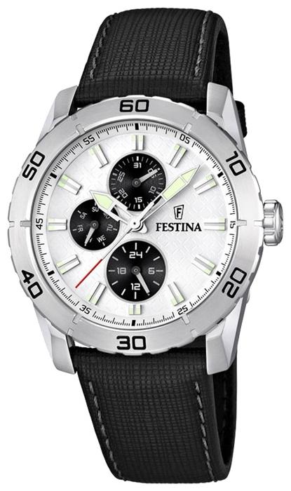Festina F16607.1 - мужские наручные часы из коллекции MultifunctionFestina<br><br><br>Бренд: Festina<br>Модель: Festina F16607/1<br>Артикул: F16607.1<br>Вариант артикула: None<br>Коллекция: Multifunction<br>Подколлекция: None<br>Страна: Испания<br>Пол: мужские<br>Тип механизма: кварцевые<br>Механизм: M6P27<br>Количество камней: None<br>Автоподзавод: None<br>Источник энергии: от батарейки<br>Срок службы элемента питания: None<br>Дисплей: стрелки<br>Цифры: отсутствуют<br>Водозащита: WR 50<br>Противоударные: None<br>Материал корпуса: нерж. сталь<br>Материал браслета: кожа<br>Материал безеля: None<br>Стекло: минеральное<br>Антибликовое покрытие: None<br>Цвет корпуса: None<br>Цвет браслета: None<br>Цвет циферблата: None<br>Цвет безеля: None<br>Размеры: 44 мм<br>Диаметр: None<br>Диаметр корпуса: None<br>Толщина: None<br>Ширина ремешка: None<br>Вес: None<br>Спорт-функции: None<br>Подсветка: стрелок<br>Вставка: None<br>Отображение даты: число, день недели<br>Хронограф: None<br>Таймер: None<br>Термометр: None<br>Хронометр: None<br>GPS: None<br>Радиосинхронизация: None<br>Барометр: None<br>Скелетон: None<br>Дополнительная информация: None<br>Дополнительные функции: второй часовой пояс