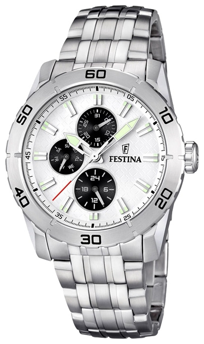 Festina F16606.1 - мужские наручные часы из коллекции MultifunctionFestina<br><br><br>Бренд: Festina<br>Модель: Festina F16606/1<br>Артикул: F16606.1<br>Вариант артикула: None<br>Коллекция: Multifunction<br>Подколлекция: None<br>Страна: Испания<br>Пол: мужские<br>Тип механизма: кварцевые<br>Механизм: M6P27<br>Количество камней: None<br>Автоподзавод: None<br>Источник энергии: от батарейки<br>Срок службы элемента питания: None<br>Дисплей: стрелки<br>Цифры: отсутствуют<br>Водозащита: WR 50<br>Противоударные: None<br>Материал корпуса: нерж. сталь<br>Материал браслета: нерж. сталь<br>Материал безеля: None<br>Стекло: минеральное<br>Антибликовое покрытие: None<br>Цвет корпуса: None<br>Цвет браслета: None<br>Цвет циферблата: None<br>Цвет безеля: None<br>Размеры: 44 мм<br>Диаметр: None<br>Диаметр корпуса: None<br>Толщина: None<br>Ширина ремешка: None<br>Вес: None<br>Спорт-функции: None<br>Подсветка: стрелок<br>Вставка: None<br>Отображение даты: число, день недели<br>Хронограф: None<br>Таймер: None<br>Термометр: None<br>Хронометр: None<br>GPS: None<br>Радиосинхронизация: None<br>Барометр: None<br>Скелетон: None<br>Дополнительная информация: None<br>Дополнительные функции: второй часовой пояс
