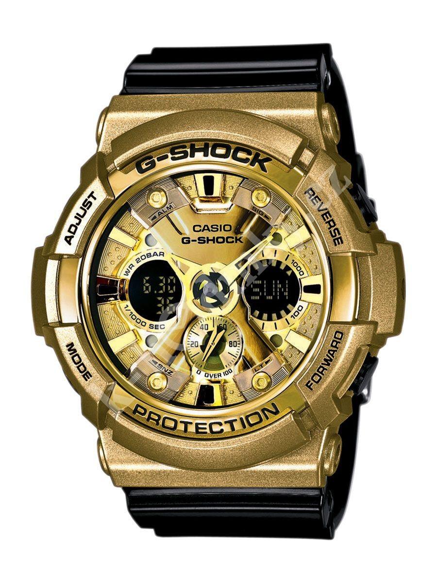 Casio G-SHOCK GA-200GD-9B2 / GA-200GD-9B2ER - мужские наручные часыCasio<br><br><br>Бренд: Casio<br>Модель: Casio GA-200GD-9B2<br>Артикул: GA-200GD-9B2<br>Вариант артикула: GA-200GD-9B2ER<br>Коллекция: G-SHOCK<br>Подколлекция: None<br>Страна: Япония<br>Пол: мужские<br>Тип механизма: кварцевые<br>Механизм: None<br>Количество камней: None<br>Автоподзавод: None<br>Источник энергии: от батарейки<br>Срок службы элемента питания: None<br>Дисплей: стрелки + цифры<br>Цифры: отсутствуют<br>Водозащита: WR 200<br>Противоударные: есть<br>Материал корпуса: нержавеющая сталь + пластик<br>Материал браслета: пластик<br>Материал безеля: None<br>Стекло: минеральное<br>Антибликовое покрытие: None<br>Цвет корпуса: None<br>Цвет браслета: None<br>Цвет циферблата: None<br>Цвет безеля: None<br>Размеры: 52.5x55.1x16.7 мм<br>Диаметр: None<br>Диаметр корпуса: None<br>Толщина: None<br>Ширина ремешка: None<br>Вес: 80 г<br>Спорт-функции: секундомер, таймер обратного отсчета<br>Подсветка: дисплея, стрелок<br>Вставка: None<br>Отображение даты: вечный календарь, число, месяц, день недели<br>Хронограф: None<br>Таймер: None<br>Термометр: None<br>Хронометр: None<br>GPS: None<br>Радиосинхронизация: None<br>Барометр: None<br>Скелетон: None<br>Дополнительная информация: ежечасный сигнал, повтор сигнала будильника, защита от магнитных полей; элемент питания CR1220, срок службы батарейки 3 года<br>Дополнительные функции: второй часовой пояс, будильник