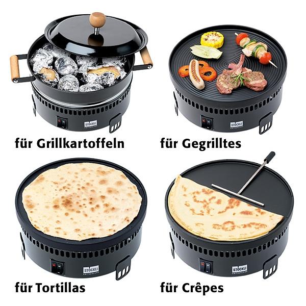 Электрическая настольная гриль-печь Stockli Marroniofen