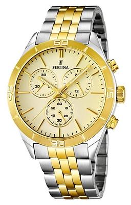 Festina F16763.4 - мужские наручные часы из коллекции ChronographFestina<br><br><br>Бренд: Festina<br>Модель: Festina F16763/4<br>Артикул: F16763.4<br>Вариант артикула: None<br>Коллекция: Chronograph<br>Подколлекция: None<br>Страна: Испания<br>Пол: мужские<br>Тип механизма: кварцевые<br>Механизм: MJS00<br>Количество камней: None<br>Автоподзавод: None<br>Источник энергии: от батарейки<br>Срок службы элемента питания: None<br>Дисплей: стрелки<br>Цифры: отсутствуют<br>Водозащита: WR 50<br>Противоударные: None<br>Материал корпуса: нерж. сталь, PVD покрытие (частичное)<br>Материал браслета: нерж. сталь, PVD покрытие (частичное)<br>Материал безеля: None<br>Стекло: минеральное<br>Антибликовое покрытие: None<br>Цвет корпуса: None<br>Цвет браслета: None<br>Цвет циферблата: None<br>Цвет безеля: None<br>Размеры: 43.2 мм<br>Диаметр: None<br>Диаметр корпуса: None<br>Толщина: None<br>Ширина ремешка: None<br>Вес: None<br>Спорт-функции: секундомер<br>Подсветка: стрелок<br>Вставка: None<br>Отображение даты: None<br>Хронограф: есть<br>Таймер: None<br>Термометр: None<br>Хронометр: None<br>GPS: None<br>Радиосинхронизация: None<br>Барометр: None<br>Скелетон: None<br>Дополнительная информация: None<br>Дополнительные функции: None