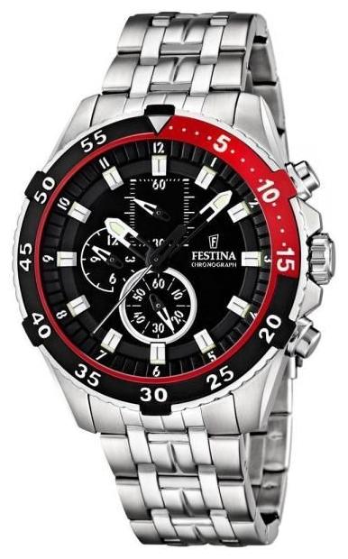 Festina F16603.4 - мужские наручные часы из коллекции SportFestina<br><br><br>Бренд: Festina<br>Модель: Festina F16603/4<br>Артикул: F16603.4<br>Вариант артикула: None<br>Коллекция: Sport<br>Подколлекция: None<br>Страна: Испания<br>Пол: мужские<br>Тип механизма: кварцевые<br>Механизм: None<br>Количество камней: None<br>Автоподзавод: None<br>Источник энергии: от батарейки<br>Срок службы элемента питания: None<br>Дисплей: стрелки<br>Цифры: арабские<br>Водозащита: WR 100<br>Противоударные: None<br>Материал корпуса: нерж. сталь<br>Материал браслета: нерж. сталь<br>Материал безеля: None<br>Стекло: минеральное<br>Антибликовое покрытие: None<br>Цвет корпуса: None<br>Цвет браслета: None<br>Цвет циферблата: None<br>Цвет безеля: None<br>Размеры: 47 мм<br>Диаметр: None<br>Диаметр корпуса: None<br>Толщина: None<br>Ширина ремешка: None<br>Вес: None<br>Спорт-функции: секундомер<br>Подсветка: стрелок<br>Вставка: None<br>Отображение даты: None<br>Хронограф: есть<br>Таймер: None<br>Термометр: None<br>Хронометр: None<br>GPS: None<br>Радиосинхронизация: None<br>Барометр: None<br>Скелетон: None<br>Дополнительная информация: None<br>Дополнительные функции: None
